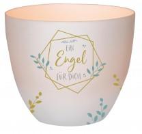 Windlicht aus Porzellan Ein Engel für dich