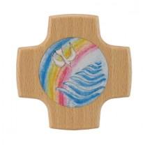 Kreuz Regenbogen / Taube / Wasser