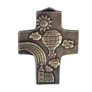 Kommunionkreuz mit Regenbogen
