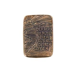 Plakette aus Bronze: Weg