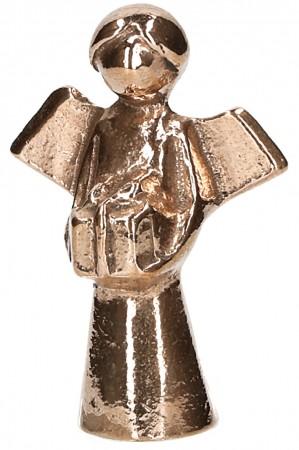 Bronzefigur - Engel mit Geschenk