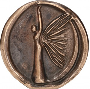 Relief aus Bronze Engel