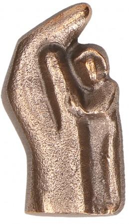 Plakette aus Bronze In Gottes Hand