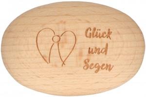 Holzhandschmeichler Glück und Segen