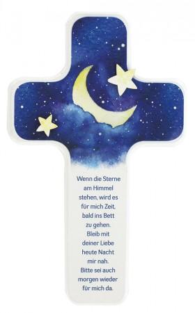 Intarsienholzkreuz Sterne am Himmel