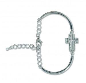 Metall-Armband mit Kreuz