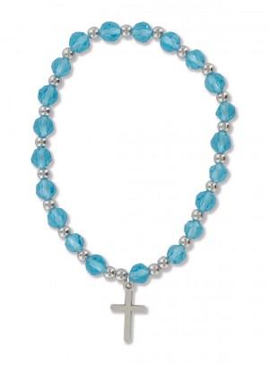 Armband aus Kunststoffperlen - blau