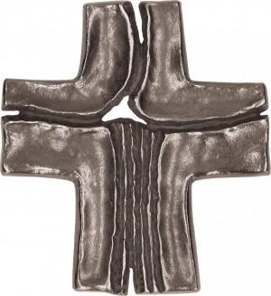 Schmuckkreuz aus Neusilber