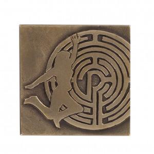 Bronzeplakette zur Konfirmation: Labyrinth