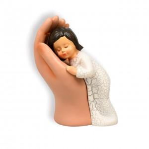 Skulptur - Hand mit Kind, 10 cm