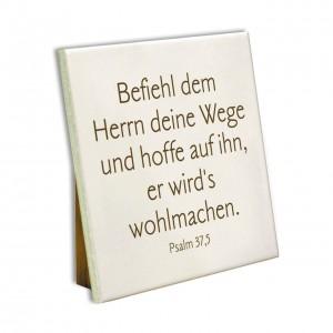 Keramikfliese - Befiehl dem Herrn...