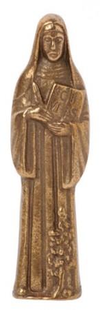 Figur Hl. Hildegard von Bingen, Handschmeichler, vollplastisch