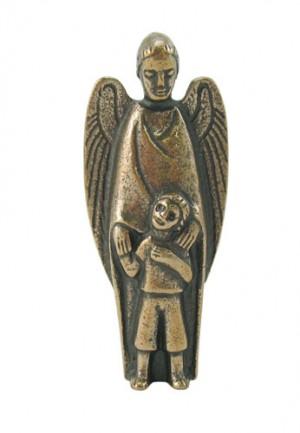 Figur Schutzengel mit Kind