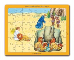 Gott rettet Daniel vor den Löwen - Bibel-Puzzle