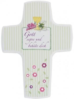 Schmuckkreuz: Gott segne und behüte dich - Meine erste heilige Kommunion