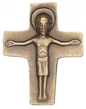 Kreuz mit Körper aus Bronze - Größe 8 X 6 cm