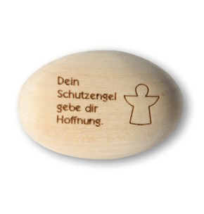 Handschmeichler Schutzengel Holz Hoffnung