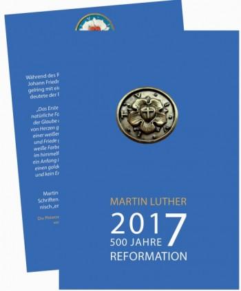 Plakette aus Bronze Lutherrose