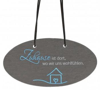 Schieferrelief zum Aufhängen Zuhause