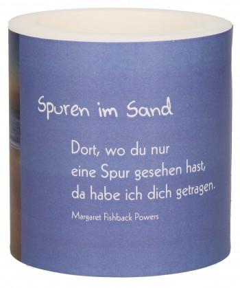 """Lampionkerze """"Spuren im Sand"""""""