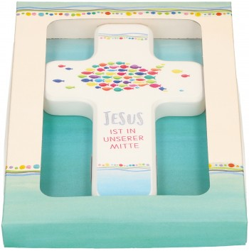 Kinderholzkreuz - Jesus ist in unserer Mitte