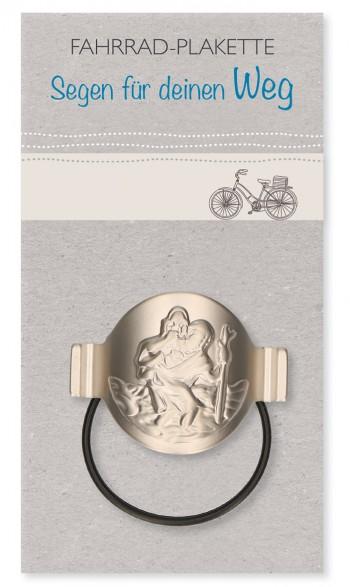 Fahrrad-Plakette Christophorus