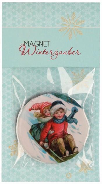Acrylglas-Magnet Winterzauber