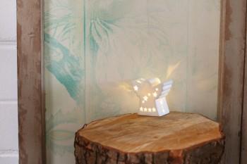 LichterZeit Engel aus Porzellan