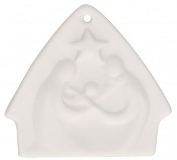 Krippe-Anhänger Stille der heiligen Nacht aus Porzellan