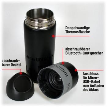 Thermosflasche mit Bluetooth-Lautsprecher
