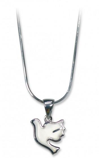 Halskette Taube aus Silber