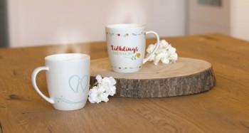 Porzellan-Tasse Lieblingsmensch