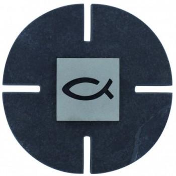 Schieferkreuz Fischmotiv
