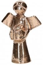 Bronzefigur Engel mit Geschenk