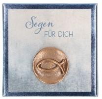 Fisch-Plakette aus Bronze - Segen für dich