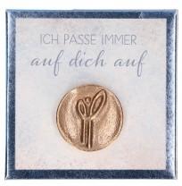 Engel-Plakette aus Bronze - Ich passe immer auf dich auf