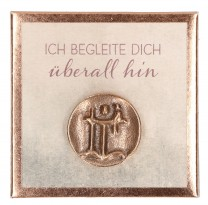 Christophorus-Plakette aus Bronze - Ich begleite dich überall hin