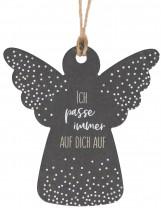 Engel-Schieferanhänger - Ich passe immer auf dich auf