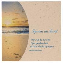 """Natursteinrelief """"Spuren im Sand"""""""