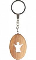 Schlüsselanhänger Engel aus Olivenholz