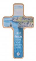 Holzkreuz 14 cm natur mit Text