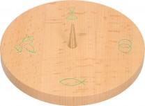 Symbolleuchter aus Holz