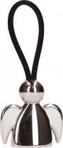 Schlüsselanhänger Engel mit schwarzem Kautschukband