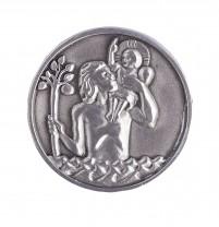 Christophorus Plakette 3 cm