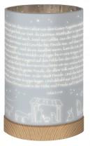 Glaswindlicht mit LED-Lichterkette - Krippe