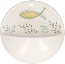 Weihwasserbecken Schutz und Segen aus Porzellan