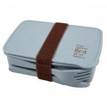 Brotdose mit Besteck - recycelt