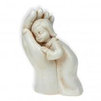 Skulptur - Mädchen in Hand, 10 cm
