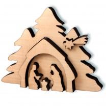 Holzkrippe - Heilige Familie