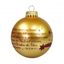 Christbaumkugel in Gold - Und der Engel sprach...